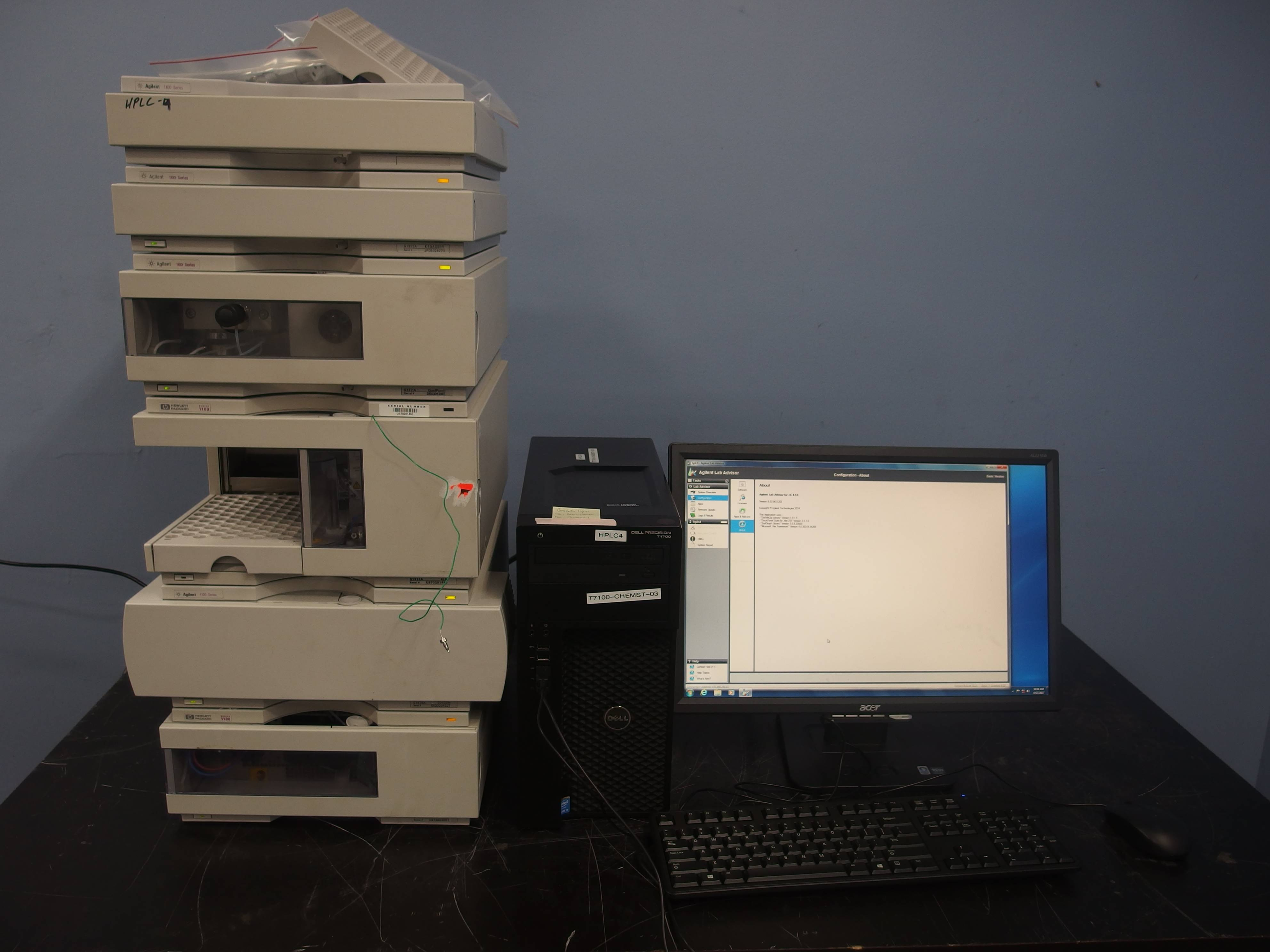 Agilent 1100 Series HPLC System With HP DAD Detector