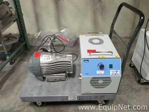 Lot of 2 Lab Pumps with Cart