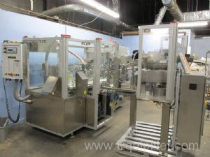 Norden NordenMatic 1700 Twin Piston Tube Filler with AGR Cap Elevator