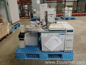 Hewlett Packard 6890 Plus Gas Chromatograph with 7694 Headspace Autosampler