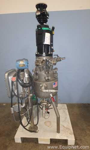 Precision Stainless 5 Gallon Inconel 600 Jacketed Reactor With Flat-Blade Turbine Agitation