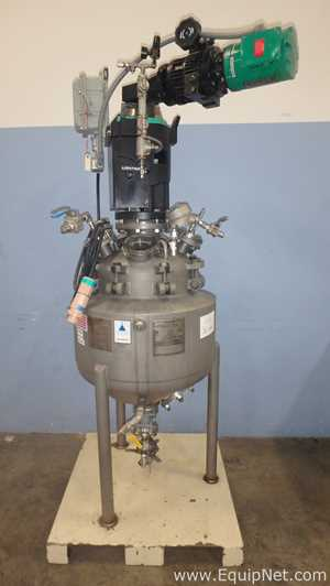Precision Stainless 30 Gallon Inconel 600 Jacketed Reactor With Flat-Blade Agitation