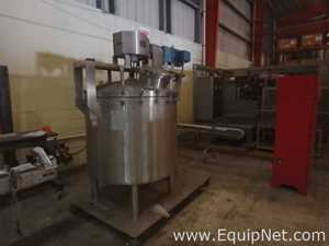 LEE 150 GALLON STAINLESS STEEL MIXING PORTABLE TANK