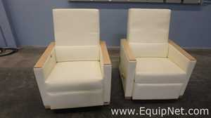 Lot of 2 Nemschoff 814-62 Leonard ll Recliner With Push button Back Release