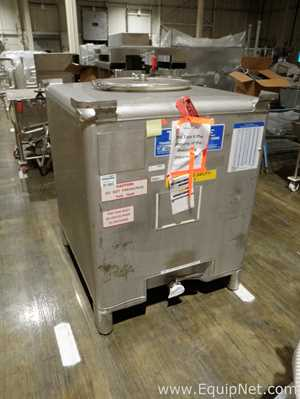 Industrial lot of 4 metalcraft 395 gallon stainless steel tote bins 514176 fandeluxe Choice Image