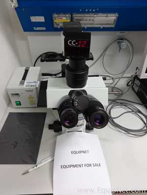 Olympus CKX41 Microscope with Olympus CC12 Soft Imaging Camera and Light Source