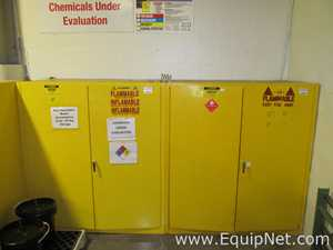 Lot of 2 Justrite 55 Gallon Flammable Storage Cabinets