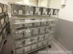 Allentown Caging Equipment Stainless Steel Rodent Rack with 30 Positions