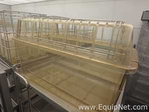 Lot of Shoe Box Cages with Lids and Water Bottles