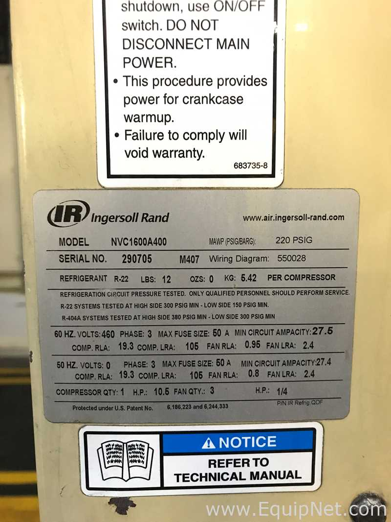 550028 Ingersoll Rand Wiring Diagram Will Be A Thing Air Compressors From Listing 590357 Rh Equipnet Com 2475 T30 Compressor