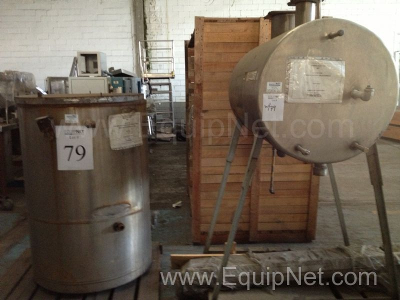 Lote de 2 tanques de acero inoxidable  - Lot of 2 Stainless Steel Tanks