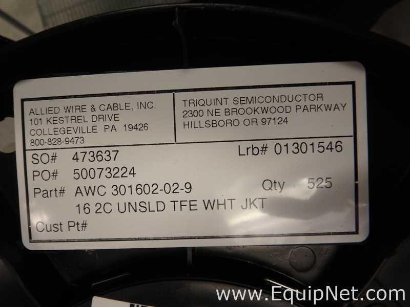 Electronics from Allied Wire and Cable Inc. Listing #597829