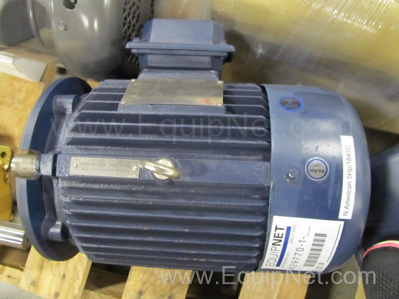 North American 5 Hp Dual Frequency Electric Motor Listing