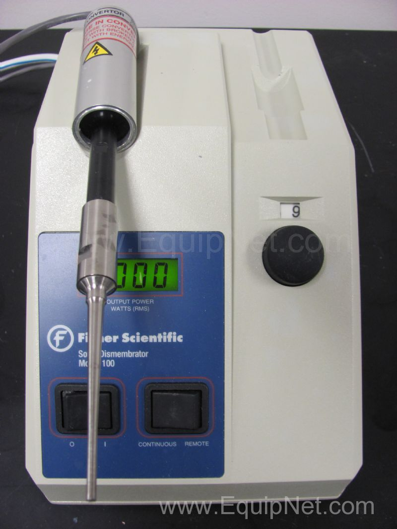 Fisher Scientific model 100 Sonic Dismembrator