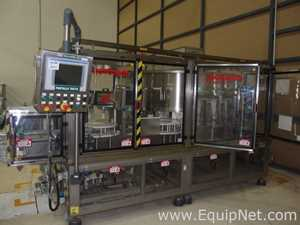 Ronchi Rototech|240|8 Bottle Unscrambler Orienter with Ronchi Bottle Conveyor Elevator