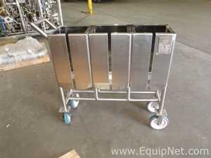Unused Thermo Scientific 3x50 Liter Stainless Steel Non-Jacketed Single Use Bioprocess Bag Holder