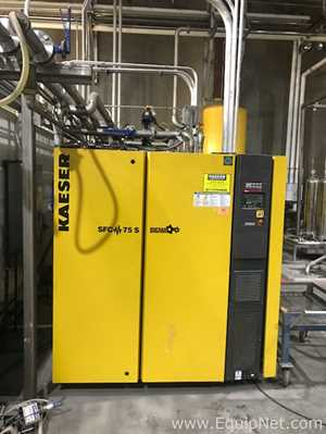 Kaeser SFC 75S Rotary Screw Compressor 100HP 441 CFM YOM 2012