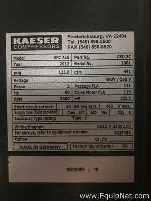 Air Compressors from Kaeser Listing #642744 on