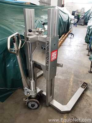 SCHNEIDER Mod. ROBUSTO FL 350 - Sanitary pallet truck for drum lifting and tilting