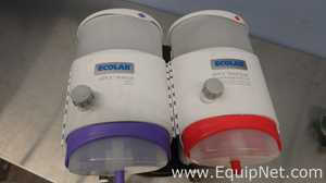 Lot of 2 Ecolab Center Apex Sanitizer Reagent Dispensers