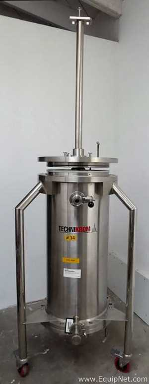 Technikrom 15 And Half Inch Diameter By 35 Inch Deep Stainless Steel Chromatography Column