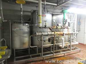 CIP System With Three Tanks, Diaphragm Pumps, Instrumentation And Control Panel