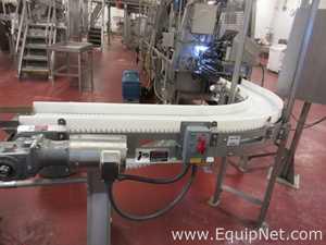 Curved stainless steel conveyor Coastline Equipment
