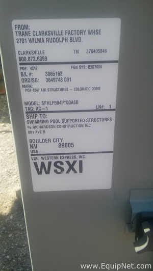Trane 50 Ton Air Handler with Gas Heat