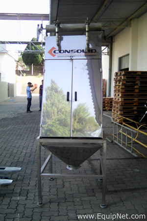 Consolid Stainless Steel 200 Liters Receiving Hopper with Exhaust Fan