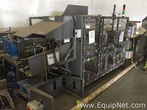 Pearson Packaging CE50 Case Erector with Nercon Pack Off Conveyor and Pearson CS50 Case Sealer