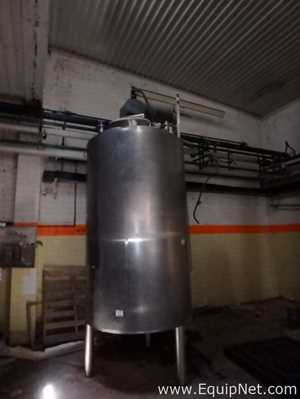 Stainless Steel Vertical Tank 3500L  With Agitation System and Jacket
