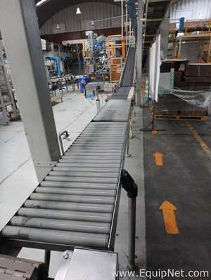CSI Elevated Conveyor with mix of  Belt Conveyor and Rollers Conveyor for Finished Product