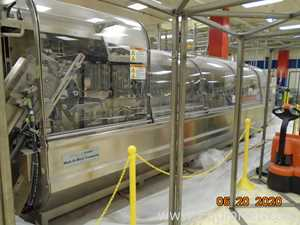 R.A. Jones High Speed Pouch Filler With Butler Auto Splice Film Feeder and Criterion Cartoner
