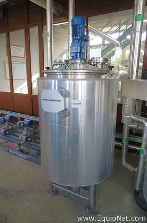 Behalter 410L Stainless Steel Jacketed Kettle with Nord Drivesystems SK Agitator - Production