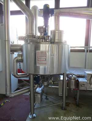Behalter 445L Stainless Steel Jacketed ATEX Kettle with Top Mounted OMB Agitator - Production