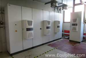 Electrical Cabinets with 4 Mounted Rittal SK3304.540 Toptherm Cooling Units - Production