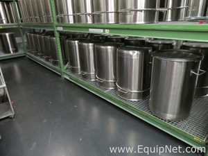 Lot of 10 Stainless Steel Storage Containers with Lids