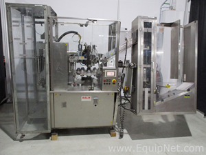 Kalix KX800 Tube Filler and Tube Loader, setup for liquid fill