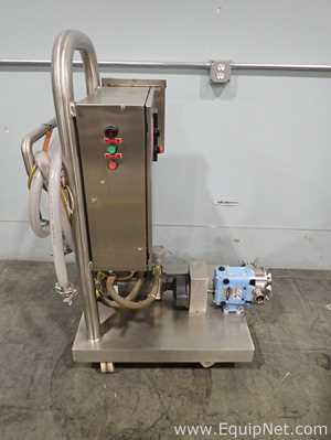 Waukesha Cherry Burrell 018U1 Lobe Pump Cart