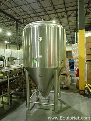 Alpha Brewing Operations Approx 650 Gallon Stainless Steel Jacketed Tank