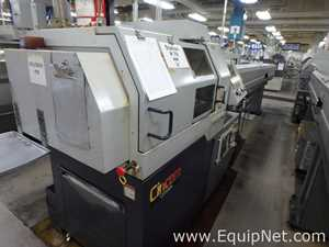 Citizen L20 5M7 CNC machine modified to 16mm with Cool Blaster and Bar feeder Machine 78