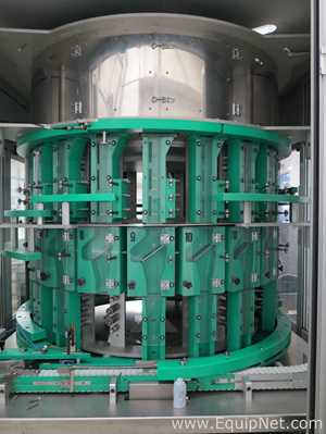 Tolke DSFN1500 20 Station Rotary Bottle Unscrambler With Vertical Bucket Infeed Elevator