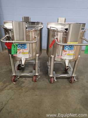 Lot of 2 DCI 26.4 Gallon Stainless Steel Portable Tanks