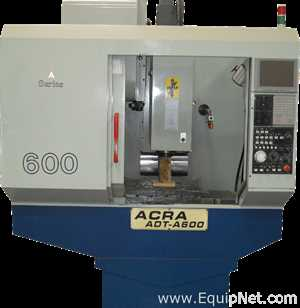 Used Acra 23 inch x 15 inch x 18 inch ADT-A600 CNC Machining Center with Mitsubishi Controller