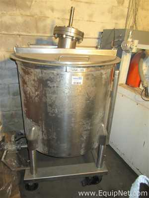 130 gallon Stainless Steel Tank On Casters