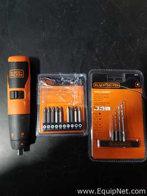 Black and Decker Rechargeable Screwdriver with Miscellaneous Accessories