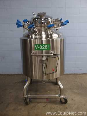 Pure Flo Approximately 300 Liter 316L Stainless Steel Jacketed Portable Tank