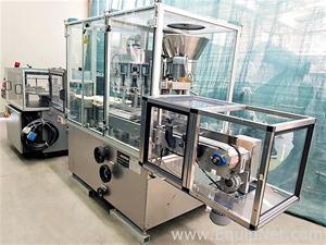 Macofar M3P-C Powder Filling capping machine with rotary table