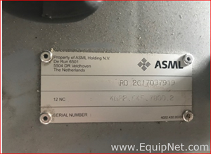 ASML US Inc ASML PN 4022.435.0013 or 4022.430.9593 Semiconductor Spare Part