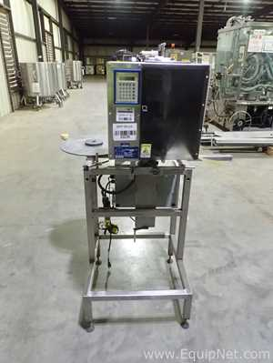 Marburg M-500 Neck Bander with OAL Heat Tunnel and Belt Conveyor